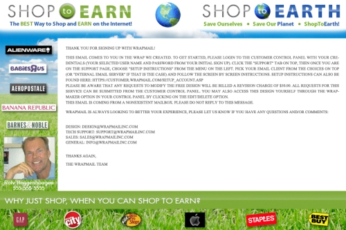 Shop to Earn wrap example